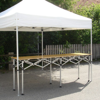 Theke zu Pavillon (Holz)